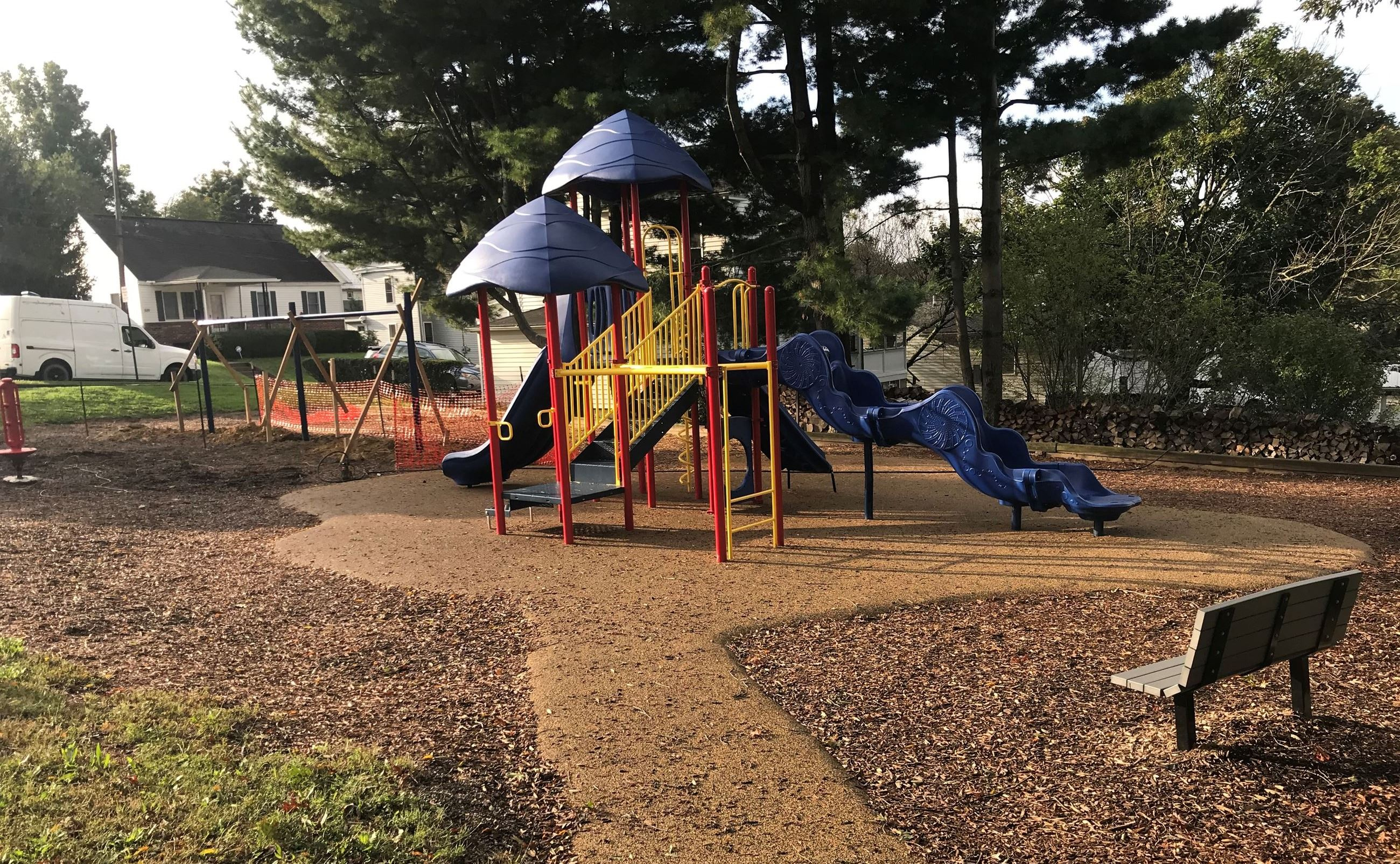 A picture of the updated Wiles Hill Playground.