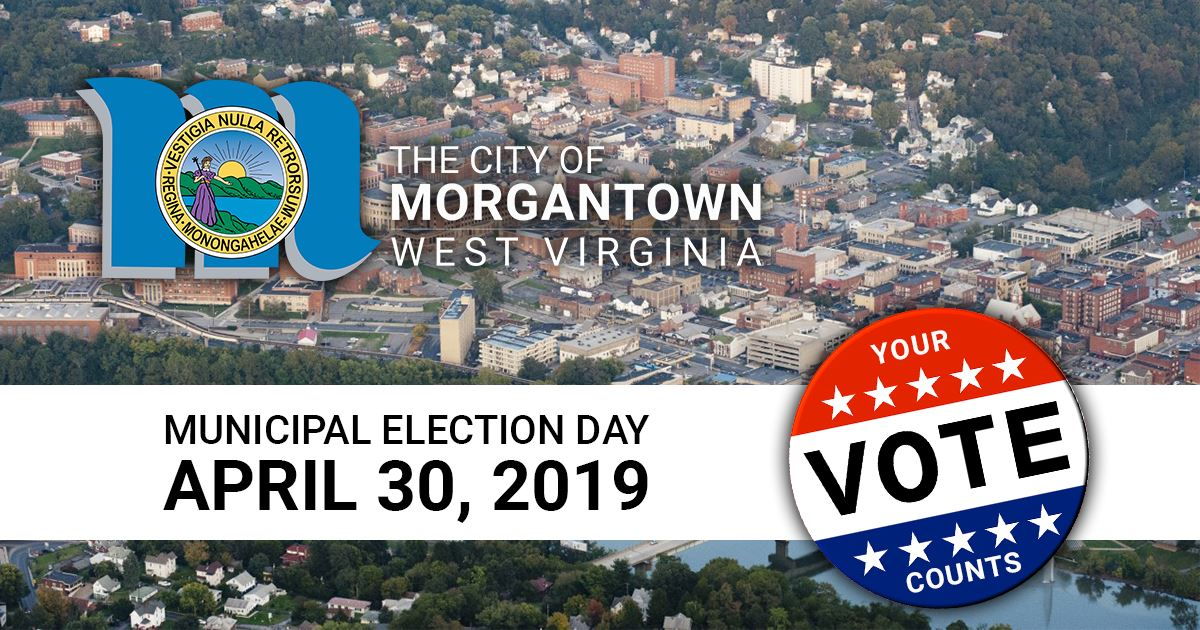 A graphic showing that the municipal election day is April 30, 2019.