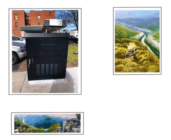 Image of the mural that will be placed at the corner of Pleasant and Spruce Street by Connie Mae Moeller.