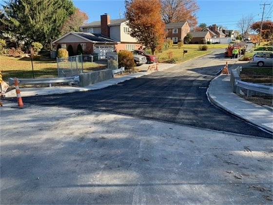 An image of the completed bridge on Killarney Drive.