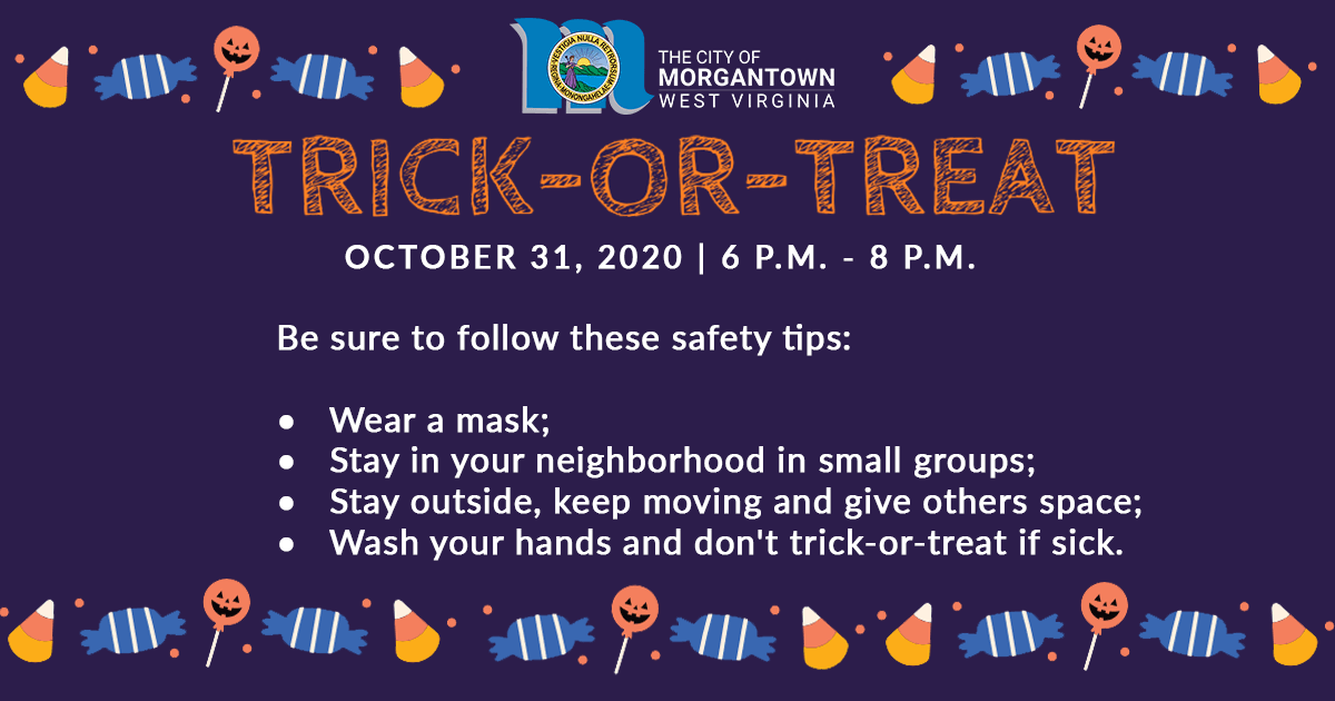 Trick-or-Treat Safety Tips Graphic
